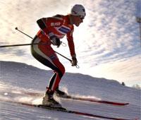 Hilde Gjermundshaug Pedersen sikret stafettsseier til de norske langrennsjentene.