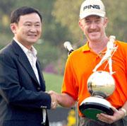 Thaksin Shinawatra er også golfinteressert. (Foto: AFP/Scanpix)