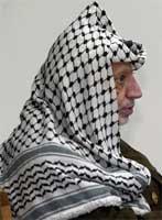 Yasir Arafat er palestinsk president.