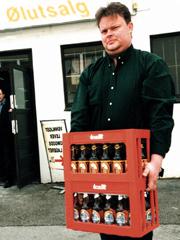P. Juls. Sandvigs ølutsalg i Ålesund. Foto: Kjell Herskedal, SCANPIX