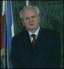 Slobodan Milosevic gratulerte Kostunica i TV-tale (Foto: Jugoslavisk fjernsyn)