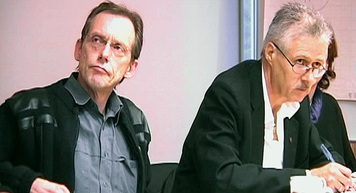 Forholdet mellom rådmann Hægeland (til høyre) og ordfører Kurt-Allan Nilsen har vært anstrengt. Foto: NRK.