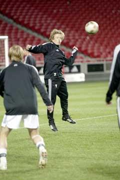 Ørjan Berg trente som normalt onsdag kveld. (Foto: Terje Bendiksby / SCANPIX)