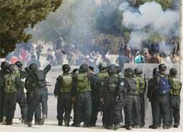 Israelske soldatene på Tempelhøyden (Scanpix/AP)