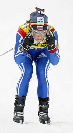Olga Pyleva vant sprinten i Lake Placid. (Foto: AFP/Scanpix)
