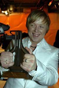 Kurt Nilsen vant klassen Årets låt under spellemannprisutdelingen i Chateau Neuf i Oslo lørdag kveld. Foto: Terje Bendiksby / SCANPIX