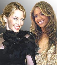 Kylie Minogue går til angrep på Beyonce Knowles og sier hun er bedre enn henne. Foto: Scanpix.