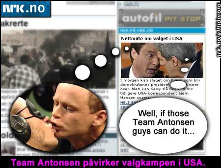 Forsiden på NRK.no 2/3 04. (Takk til Sveinung for tips)