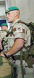 Norsk soldat klar for Irak.