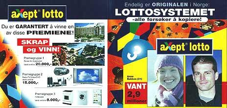 """Det eneste som er garantert med """"aXept lotto"""" og lignende lottosystemer, er at det er bortkastede penger."""