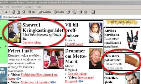 Team Antonsen-sakene florerer på VG-nett for tiden. (Innsendt av Mads Berger)