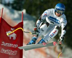Stephan Eberharter vant utforrennet på Kvitfjell. (Foto: AP/Scanpix)