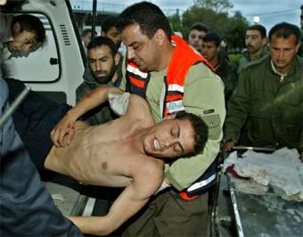 14 ble drept og over 80 ble såret i angrep på Gazastripen i dag tidlig. Foto: Reuters/Scanpix