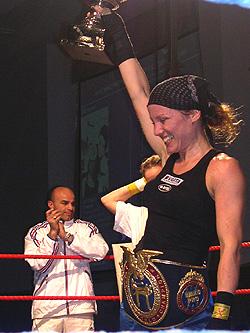 Mette Solli då ho blei verdsmeister i fjor.