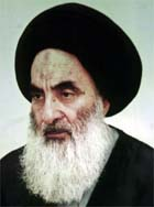 Den mektige lederen for sjiamuslimene i Irak, Ali al-Sistani. Foto: Reuters/Scanpix