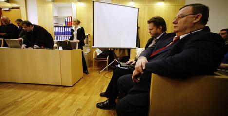 Torgeir Stensrud vitner i saken mot tidligere Finance Credit-sjef, Trond Kristoffersen. Foto: Cornelius Poppe/Scanpix.
