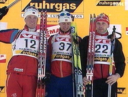 Vinnerne: (fra v.) Frode Andresen, Lars Berger og Thomasz Sikora. (Foto: NRK)
