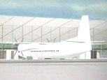 Prosjekttegning Rygge Sivile Lufthavn