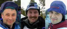 Ralph Johannesen (t.v.) og Roger Dahl er favoritter når fjorårsvinner Bjørnar Andersen (t.h.) i år kjører Iditarod.