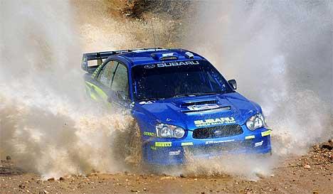 Petter Solberg var raskest på ni av femten fartsprøver i Rally Mexico og hadde vunnet lett om det ikke var for tidsstraffen han fikk fredag.(Foto: Alfredo Estrella/AFP/Scanpix)
