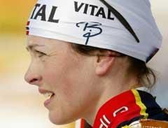 Liv Grete Poirée måtte se at fire kantskudd gikk ut. (Foto: AFP/Scanpix)