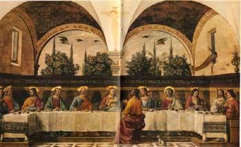 Nattverden i San Marco klosteret ble malt av Ghirlandaio rundt 1480. Foto: San Marco, Firenze.