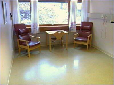 Mannen ble drept i sengen på dette rommet.