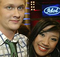 Bjarne Laastad i Idol mener musikken og ikke personene er viktigst i Idol. Roald Haarr og Anh Vu var de første til å ryke ut av årets Idol (Foto: Scanpix/Håkon Mosvold Larsen)