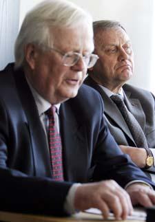 LØSNING LIKEVEL? Karl Nysterud i TBL og Kjell Bjørndalen i Fellesforbunder kan likevel komme til en løsning.
