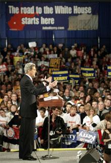 John Kerry scorer bra blant amerikanske jøder. (Foto: Scanpix / AFP)