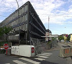 USAs ambassade ligger i dag i Drammensveien i Oslo sentrum. Foto: Scanpix
