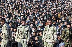 Fra begravelsene etter angrepet på Arbil i forrige måned. Foto: Karim Sahib