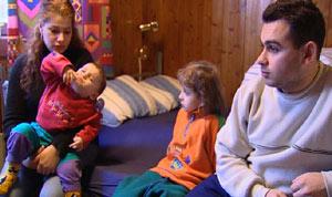 Marcela og Robert og barna deres er også asylsøkere fra Tsjekkia.