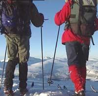 Riktig mat i påskesekken må til for at skituren skal bli vellykket. (Foto NRK)