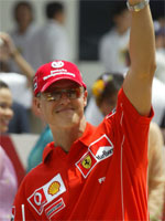 Michael Schumacher. Foto: AP Photo/Dita Alangkara.