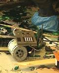 Minibanken i Ringebu ble fullstendig ødelagt.