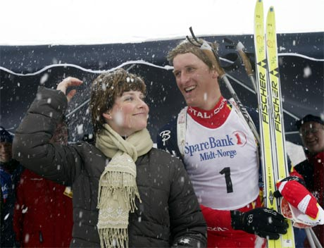 Lars Berger ga ufrivillig prinsesse Märtha Louise et snøbad. (Foto: Terje Bendiksby/Scanpix)