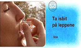 Et av seernes råd mot munnsår, er å ta en isbit eller noe kaldt på såret. Foto: NRK Puls
