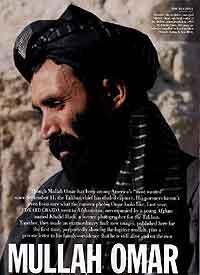 Mulla Mohammed Omar, bilde tatt av Talibans offisielle fotograf. (AP Photos/Vanity Fair, Magnum Photos)