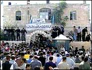 Ramallah politistasjon. (Foto: APTN)