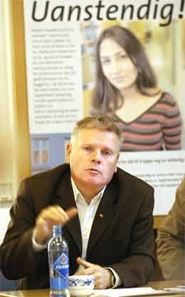 Jan Davidsen i Fagforbundet håper på drahjelp til sine forhandlinger, etter oppgjør i verkstedindustrien (foto: Jarl Fr. Erichsen/Scanpix)