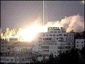 Hus i Ramallah bombes. (Foto: Reuters)