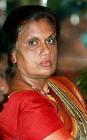 Chandrika Kumaratunga, president på Sri Lanka. (Foto: Scanpix)
