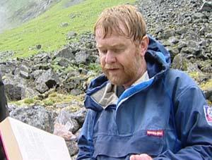 Veiviser Erling Gjelsvik. Foto: NRK