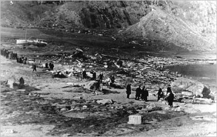 Gravferda frå Tafjord 11.april 1934. Bilde fra Astor Furseth sitt fotoarkiv.