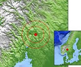 Jordskjelvet hadde senter i Hedmark. (Foto:NORSAR/jordskjelv.no)