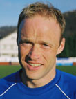 Tommy Sylte scora seiersmålet på Kråmyra den 16.mai 2002. Foto:Arne Flatin, NRK.