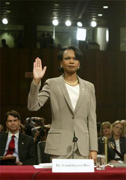 Condoleezza Rice måtte forklare seg for kommisjonen som gransker 11. september. (Foto: AP/Scanpix)