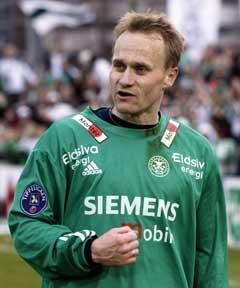 Dommeren snøt trolig Geir Frigård for et mål sist helg. (Foto: Cornelius Poppe / SCANPIX)