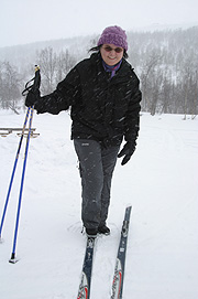 Tina på ski. Foto: Odd-Magne Haugen, Altaposten